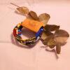pulsera artesanal de tela africana wax confeccionada por maddisormena8.com